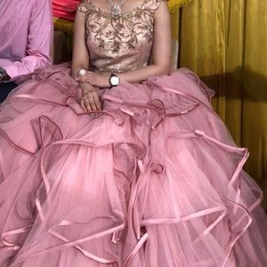 Princess lace dress prom wedding engagement party